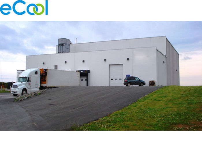 5400 Square Feet  Frozen Products Cold Room Warehouse With Loading Platform Sealing Doors