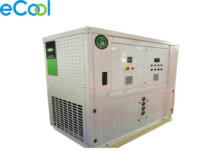 Greenest CO2 Transcritical Freezer Condensing Unit , Cooler Condensing Unit For Cold Room